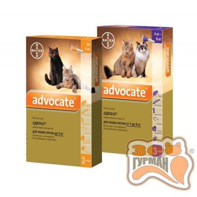 купити Advocate (Адвокат) капли для кошек и кролей, от блох, глистов, клещей, 1 пипетка в Одеси