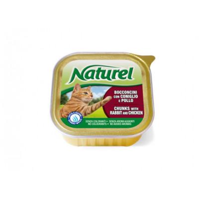 Naturel Кусочки кролика с курицей 100г