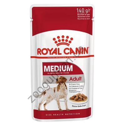Royal Canin WET MEDIUM ADULT для взрослых собак средних пород, 140г