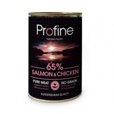 Profine Dog с лососем и курицей, 400 гр