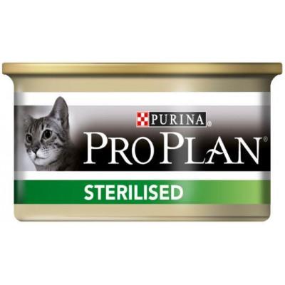 купити PRO PLAN Sterilised для стерилизованных кошек, паштет с тунцом и лососем, ж/б, 85г в Одеси