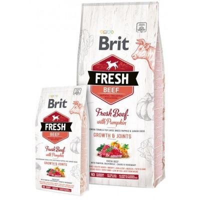 Brit Fresh (Брит Фрэш) Puppy Large Breed Beef with Pumpkin  - беззерновой корм для щенков крупных пород (говядина/тыква)