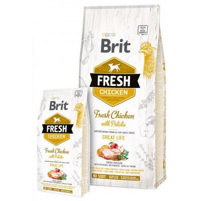 Brit Fresh (Брит Фрэш) Adult Chicken with Potato  - беззерновой корм для взрослых собак (курица/картофель)