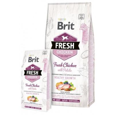 купити Brit Fresh (Брит Фрэш) Puppy Chicken with Potato  - беззерновой корм для щенков (курица/картофель) в Одеси