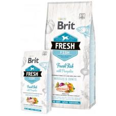 Brit Fresh (Брит Фрэш) Adult Large Breed Fish with Pumpkin  - беззерновой корм для взрослых собак крупных пород (рыба/тыква)