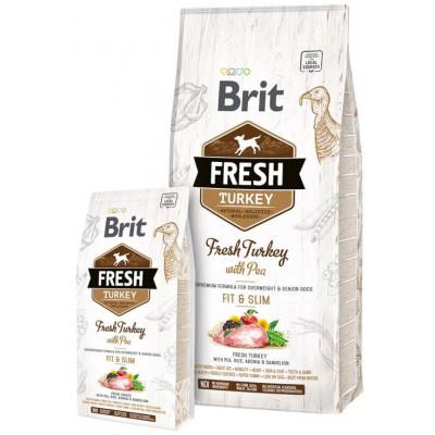 купити Brit Fresh (Брит Фрэш) Adult Light Turkey with Pea - беззерновой корм для собак всех пород (индейка/горох) в Одеси
