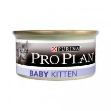 PRO PLAN Baby Kitten корм для котят паштет с курицей, ж/б, 85 гр